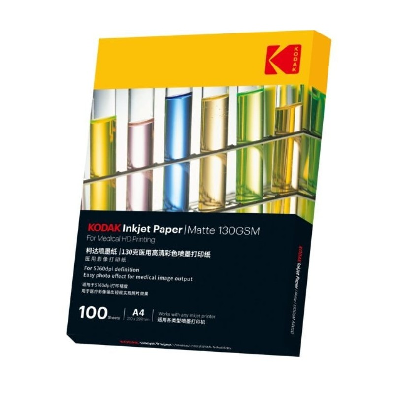 Hartie Kodak Matte pentru print medical, format A4, greutate 130 g, 5760DPI