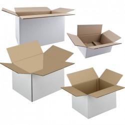 Cutii de carton personalizate in 3 straturi alb tip C3