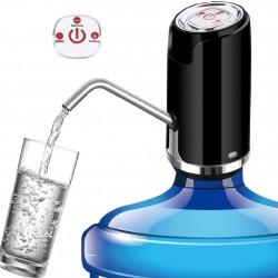 Pompa electrica 4W, pentru bidon apa, incarcare USB, indicator LED, negru