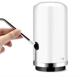 Pompa electrica bidon apa, putere 4W, USB, tub silicon, 1200mAh, diametru 6cm