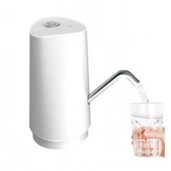 Pompa electrica 8W, pentru bidon apa, 2.5L/min, incarcare USB, alb