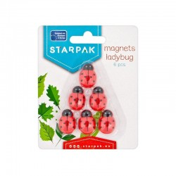 Magneti Ladybug 25 mm, pentru tabla magnetica, set 6 bucati, Starpak