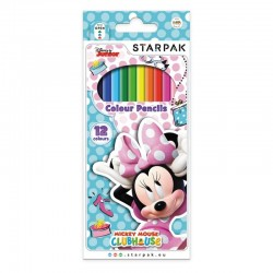 Creioane Minnie Mouse, set 12 culori, forma hexagonala