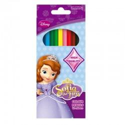 Creioane Printesa Sofia, set 12 culori, forma hexagonala