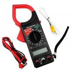 Multimetru afisaj digital LCD, tip cleste ampermetru, cu functia HOLD, sonda de test