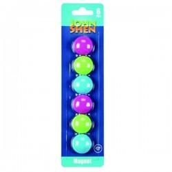 Magneti colorati pentru tabla magnetica, 30 mm, set 6 bucati, John Shen