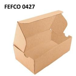 Cutie postere cu autoformare 130x85x65 mm, carton natur microondul E, FEFCO 0427