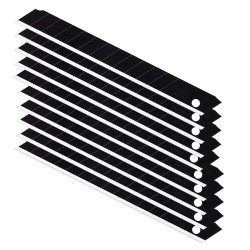 Set 10 lame cutter negre de tip A, extra sharp 9 mm, uz profesional