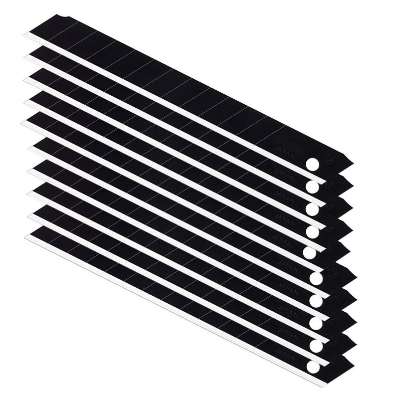Set 10 lame cutter negre de tip A, extra sharp 9 mm, uz profesional