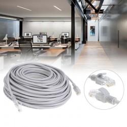 Cablu LAN de retea, dopuri RJ45 FACTORY-FLOODED, lungime 10m, gri