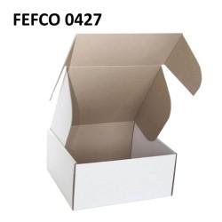 Cutie cu autoformare 85x60x75 mm alba, carton microondul E, FEFCO 0427
