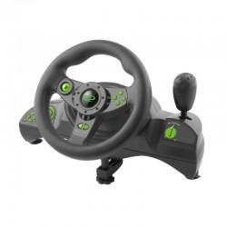 Volan si pedale Gaming, PC/PS3, NITRO, maneta, USB, butoane actiune