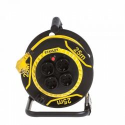 Prelungitor rola tip tambur, 4 prize, cablu H05VV-F 3G1,5 mm2, 3200W, IP20