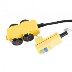 Cablu prelungitor cu intrerupator, 4 prize, mufa RCD, 5 m, IP44