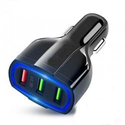 Adaptor bricheta auto USB QC 3.0, tensiune 12-24V, negru