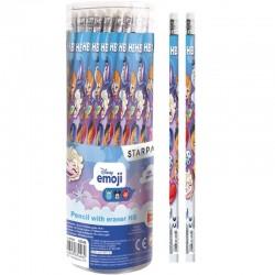 Creion Frozen cu mina din grafit si radiera