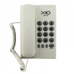 Telefon fix cu fir, 16 taste, functie Mute, Pause, Redial, Hold, Alb, OHO