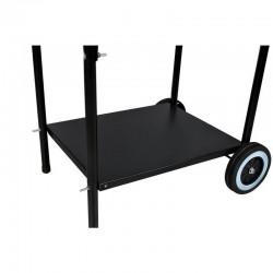 Gratar Grill rotund mobil, de gradina, rafturi laterale, capac, Kaminer