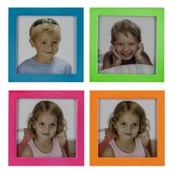 Rama foto din aluminiu, format poza 6.5x6.5 cm, culori mixte