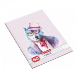 Caiet studentesc A4  Hipsters Animals,60 file, matematica, Herlitz