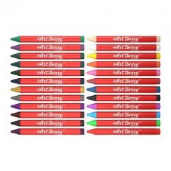 Creioane colorate cerate, set 24 culori, Erichkrause