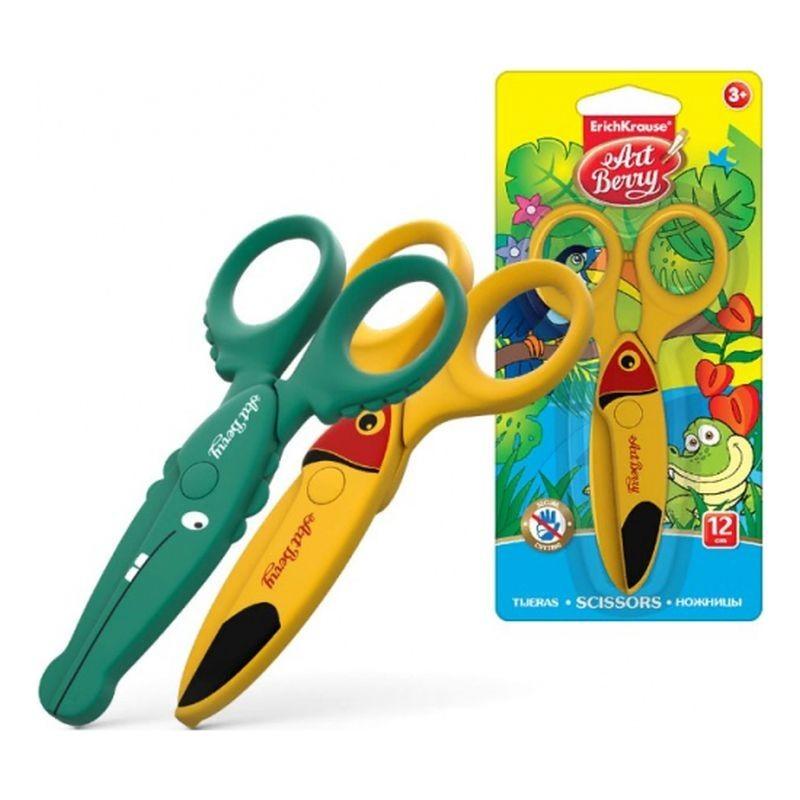 Foarfeca plastic Wild Friends, pentru copii, 12 cm