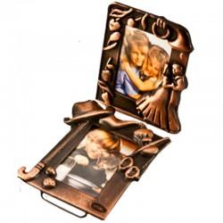Rama foto metalica, 4x6 cm, aspect vintage
