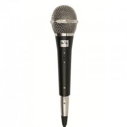 Microfon de mana, polar cardioid, 600 ohmi, XLR 6.3 mm, buton on off, plastic