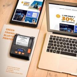 Imprimanta termica portabila, format A8, Bluetooth, USB, 90mm/s, 58mm