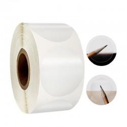 Etichete rotunde transparente autoadezive, diametru 30 mm, pentru sigilare, 1000 etichete/rola