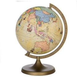Glob geografic rotativ Travel, harta politica, cartografie limba engleza, diametru 22 cm