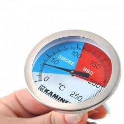 Termometru pentru gratar Smoke&BBQ, otel, 0-250grade Celsius, Kaminer