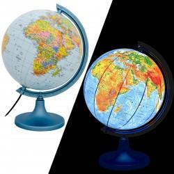 Glob pamantesc iluminat, harta politica si fizica, cartografie detaliata, diametru 25 cm