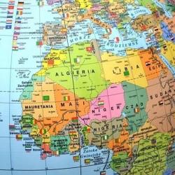 Glob geografic politic, arc meridian gradat, suport ABS, diametru 42 cm