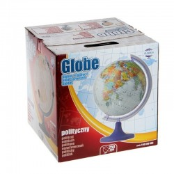 Glob pamantesc rotativ, cartografie harta politica, meridian si suport ABS, diametru 25 cm