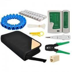 Set instrumente de retea, tester cabluri, mufe, cleste, instrument sertizare, husa