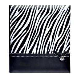 Album foto Zebra Black, 60 pagini albe, 29x32 cm, foi de pergament, notite