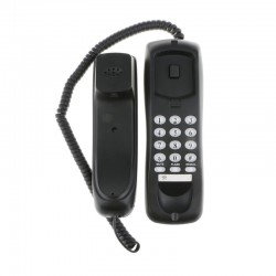 Telefon fix pentru perete cu fir, functie reapelare, negru, iluminat