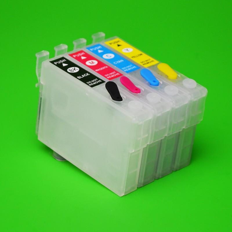 Cartuse Reincarcabile Epson T1381-t1384 Cerneala: Cu Cerneala Dye