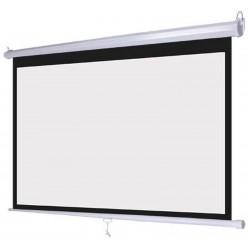 Ecran pentru proiectie 100 inch, format 16:9, portabil, sistem prindere, alb mat