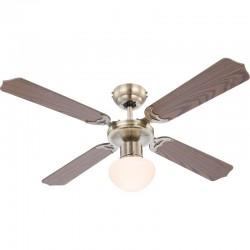 Ventilator de tavan cu lustra, 60W, 3 viteze, rotire reversibila, Champion