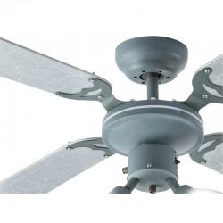 Ventilator de tavan 50W, 3xGU10, 3 trepte viteza, 4 palete, IP20, 15mp, Harvey