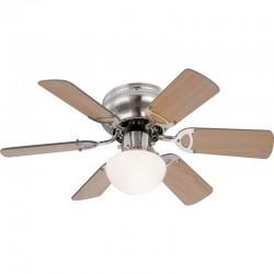 Ventilator cu lustra, 60W, montare tavan, E27, 6 palete, 3 viteze, IP20