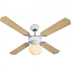 Ventilator cu lustra, 60W, montare tavan, reversibil, palete 2 fete, E27, 3 viteze