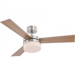 Ventilator de tavan 2 in 1, lustra, 50W, telecomanda, reversibil, 3 palete, 2xE14