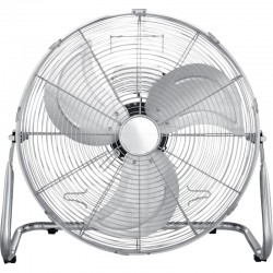 Ventilator de birou, 114W, 3 trepte viteza, suport, 3 palete, grilaj protectie, metal