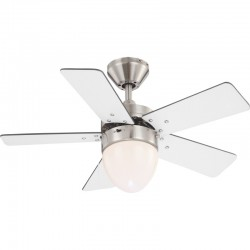 Ventilator cu lustra, 1xE27, 60W, reversibil, 3 viteze, palete MDF cu 2 fete, MARVA