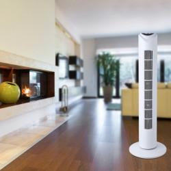 Ventilator tip stalp 50W, 3 trepte viteza, telecomanda, temporizator, inaltime 80.5cm
