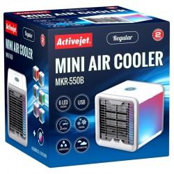 Mini racitor pentru aer, 5W, rezervor 0.55l, 3 trepte viteza, 3 functii, iluminat LED 6 culori, USB