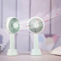 Mini ventilator portabil cu difuzor aromaterapie, 2.7W, 3 viteze, incarcare USB